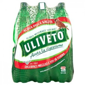 Acqua Minerale Effervescente Naturale  Uliveto - 6 Bottiglie da  1,5 LT