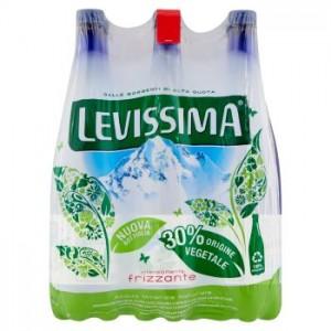 Acqua Minerale Intensamente Frizzante Levissima - 6 Bottiglie da  1 LT