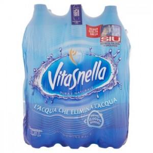 Acqua Minerale  Naturale  Vitasnella - 6 Bottiglie da  1,5 LT