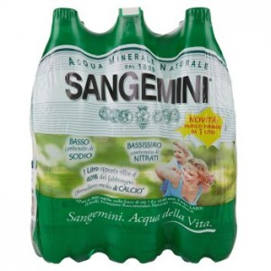 Acqua Minerale  Naturale  Sangemini - 6 Bottiglie da  1 LT