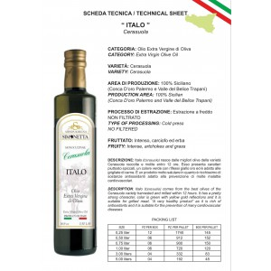 Olio Extra vergine di Oliva ITALO Cerasuola - 6 bottiglie