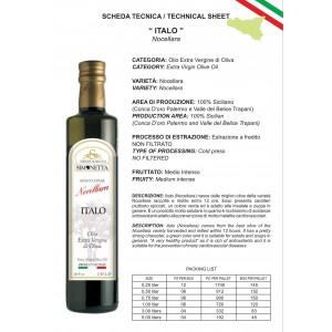Olio Extra vergine di Oliva  ITALO Nocellara - 6 bottiglie